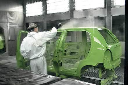 Чери цех окраски кузовов на китайском заводе Chery