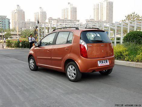 дизайн китайского автомобиля Чери А1 Кимо цвета оранжевый металлик - Chery A1 Kimo orange color