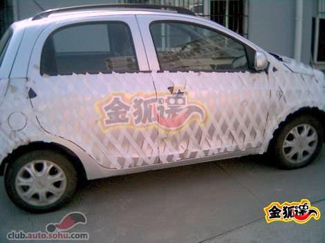 шпионские фото автомобиля Chery QQ2 - S18 белого цвета photo