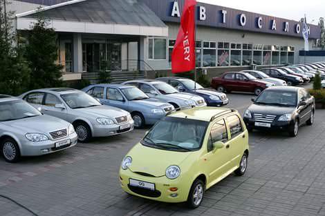 Chery - Чери продажи за июль 2008