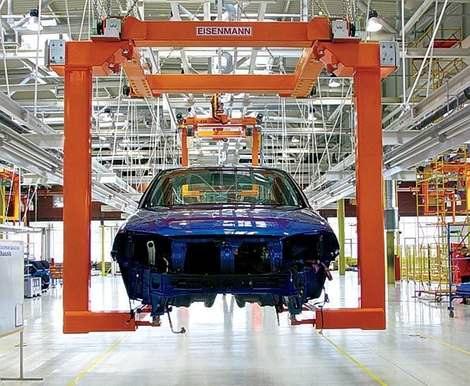 Автомобильный конвейер - китайские автомобили Chery